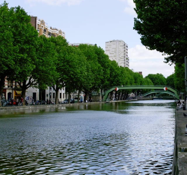 Canal Saintt Martin. Paris. : .